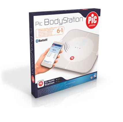 Pic bodystation la bilancia digitale in connessione con il tuo peso